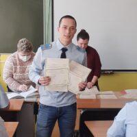 Вручение свидетельств о присвоении квалификации